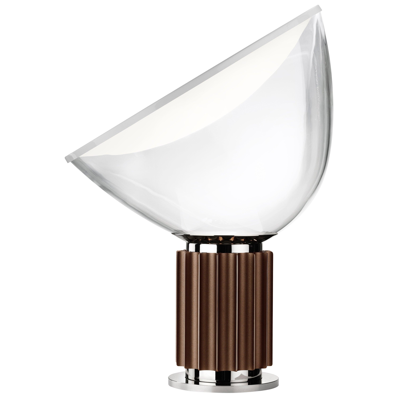 FLOS Taccia LED Diffuser Lamp in Bronze by Achille & Pier Giacomo Castiglioni