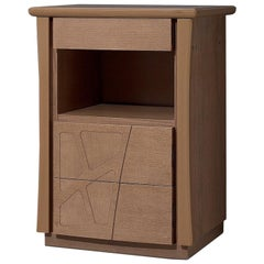 Motivi Three-Drawer Nightstand with Open Compartment