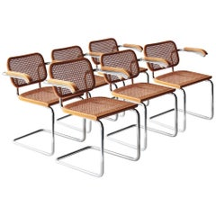 Set of Six Chairs Model Cesca B64, Italy, 1962
