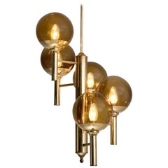 Svend Mejlstrøm Brass and Glass Chandelier