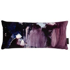 Modern Violet and Purple Cotton Velvet Lumbar Cushion by 17 Patterns