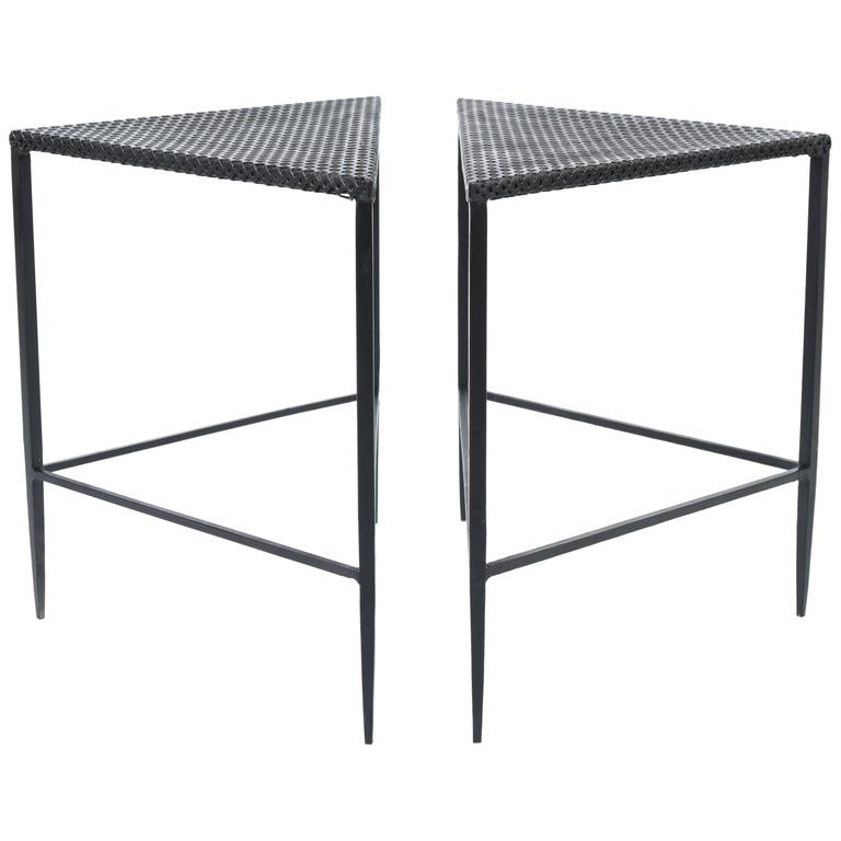 Pair of Mathieu Mategot Style Side Tables, 1950s, France