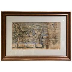 19th Century Ottoman Drawing for Al-Aqsa
