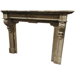 Early 20th Century Belgian Marble Fireplace