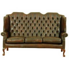 Delta Chesterfield Queen Anne Playwing Regency Three-Seat