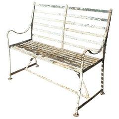 Regency Wrought Iron Garden Seat