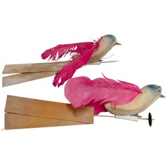 Vintage Collection of Papier Mache Bird Toys