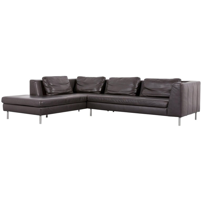 ewald schillig designer two seater couch set leather red. Black Bedroom Furniture Sets. Home Design Ideas