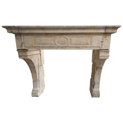 18th Century Louis XIV Fireplace in French Limestone