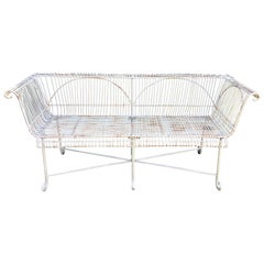 Vintage English Wirework Garden Bench