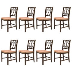 Ole Wanscher Set of Eight Mahogany Dining Chairs for A. J. Iversen