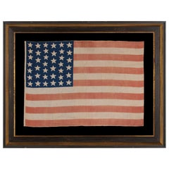 39 Stars In Two Sizes, on an Antique American Parade Flag