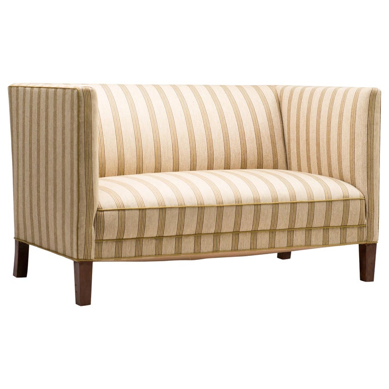 Striped Wool Sofa by Fritz Hansen