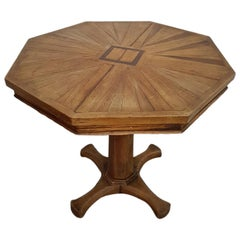Late 19th Century Wine Table Inlaid with Rosewood