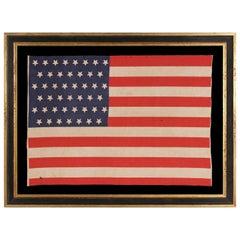 Antique American Flag with 45 Upside-Down Star, Utah Statehood