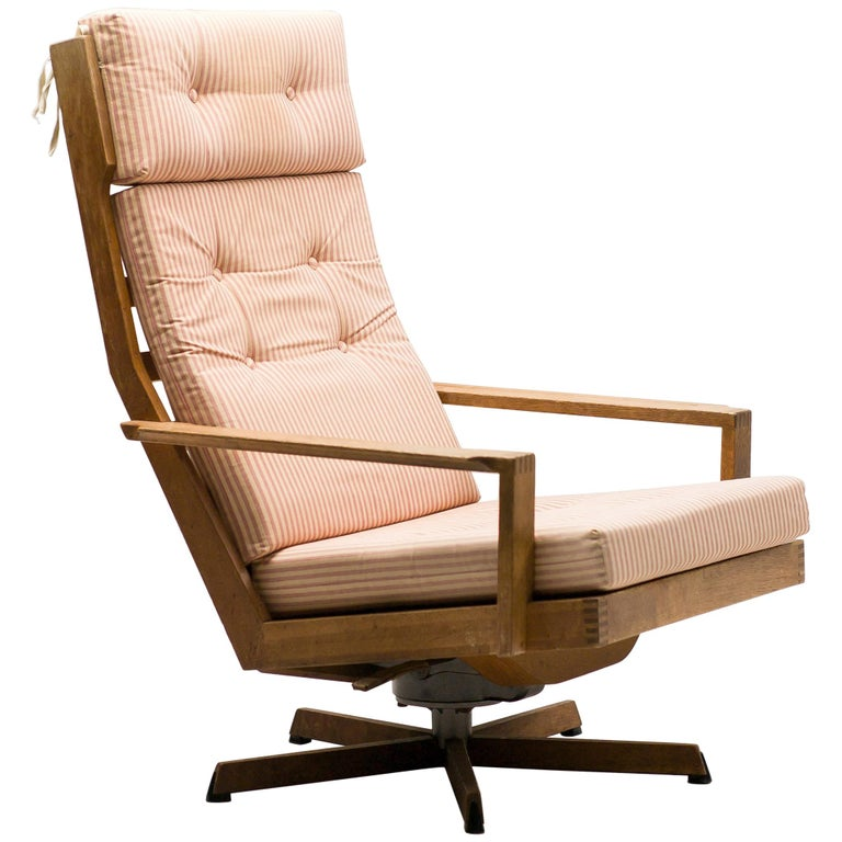 Madsen and Schubel Oak Lounge Chair For Sale