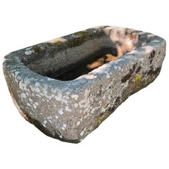 Round-Edged 18th Century Hand-Carved Cornish Granite Trough