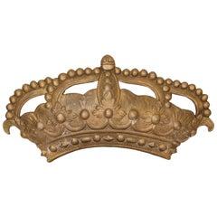 19th Century Bronze Crown Mold