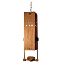 Contemporary Wooden Slide Projector 'de luxe' Lighting in Wood with Mirror