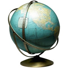 Midcentury Unusual Multi-Bracket World Globe, circa 1960s