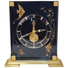Very Rare 1970s Jaeger-LeCoultre Marina 8 Days Mantel Clock
