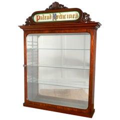 Victorian Mahogany Chemist Pharmacy or Bathroom Cupboard