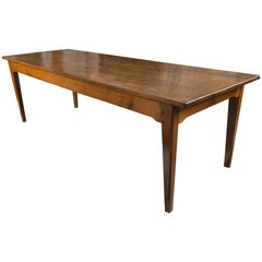 19th Century French Elm Farm Table
