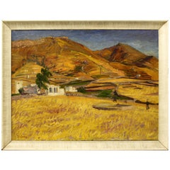 Landscape Oil Painting of Greek City Paros, by Frederick Gore