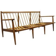 Vintage Baumritter Walnut Mid-Century Modern Sofa Adrian Pearsall Danish Style