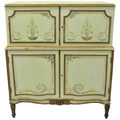 Antique Adams Style Green Painted Chest of Drawers Dresser by New York Galleries