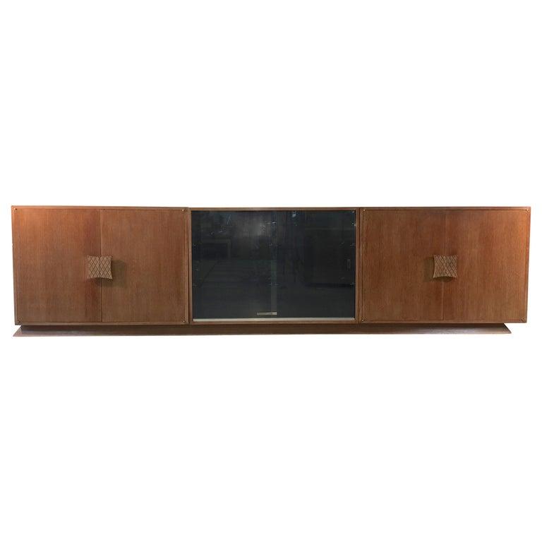 Ernst Schwadron Cerused Triple Cabinet For Sale