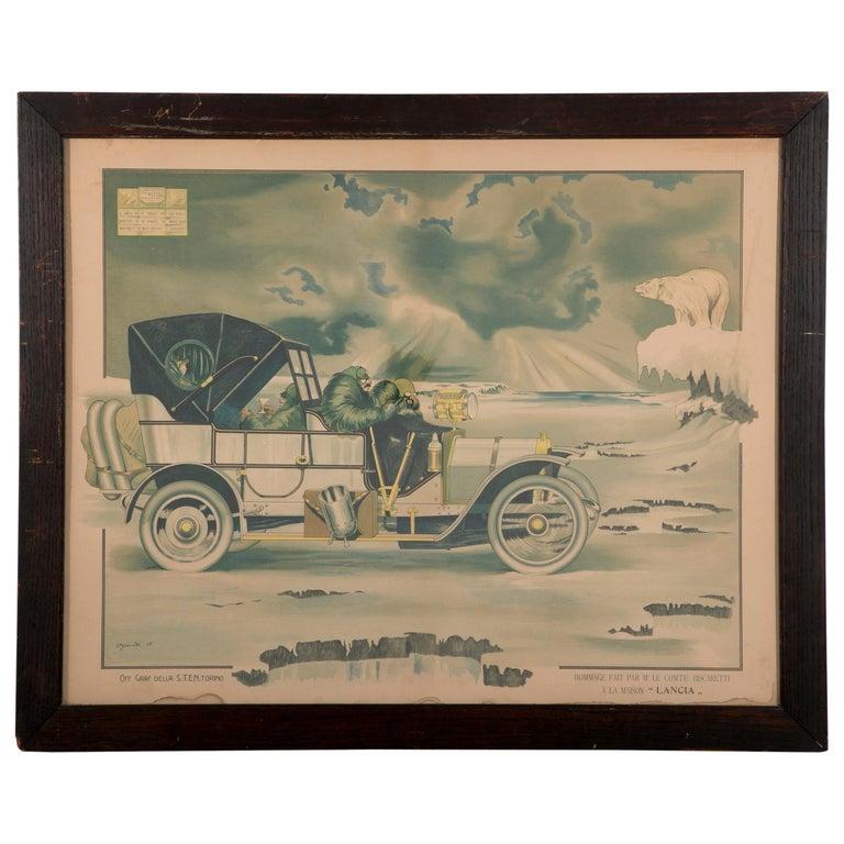 Original 1915 Lancia Automobile Advertising Poster