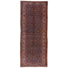 Early 20th Century Antique Mahal Gallery Carpet