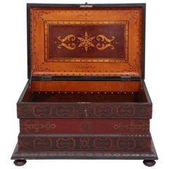 Spectacular and Large Tramp Art Blanket Box, circa 1890-1910