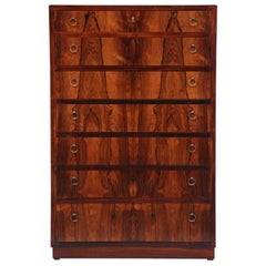 Danish Brazilian Rosewood Chest of Drawers, circa 1940s