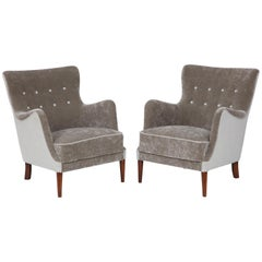 Pair of Danish Club Chairs, circa 1940s