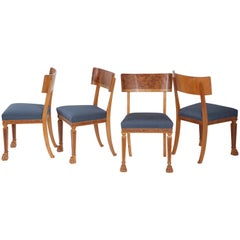 Set of Four Swedish Grace Side Chairs, circa 1930s