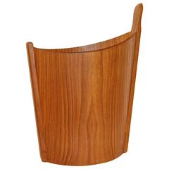 Scandinavian Teak Waste Can