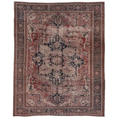 Rural Antique Heriz Carpet