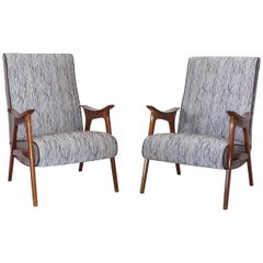 Mid-Century Modern, a Pair of Scandinavian Lounge Chairs