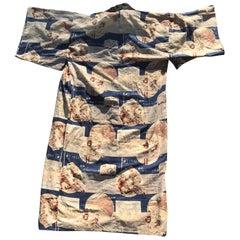 Japanese 1930s Los Angeles Olympic Commemorative Kimono, Rare Collectible Chance