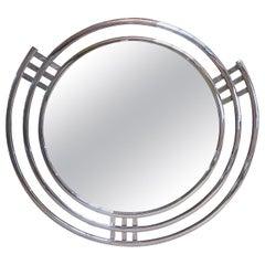 Art Deco Triple Band Chrome Wall Mirror