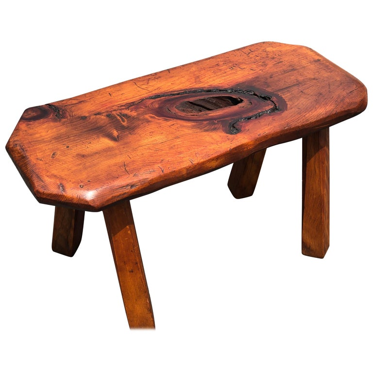 Mid-Century Modern Live Edge Bench or Table For Sale