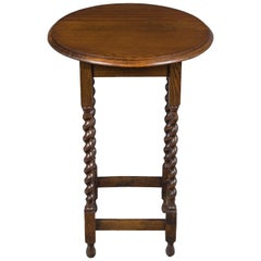 Barley Twist Leg Round Side Table