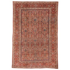 One of a Kind Antique Mahal Carpet