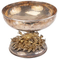 Franco Lapini Silver and Gold-Plated Centrepiece Bowl