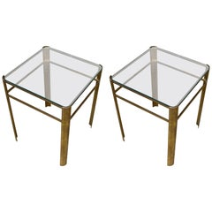 Jacques Quinet Pair Coffee Tables, France, Midcentury