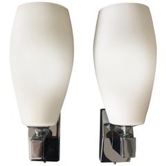 Pair of Sconces in the Style of Fontana Arte, Italy, 1970