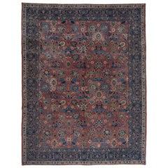 Vase Carpet Pattern Antique Tabriz Rug