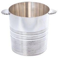 French Silver Plate Wine Cooler